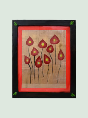 Bunch of Anthurium flowers – Newspaper Painting