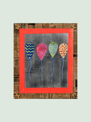 Colorful Balloon – Handmade Posters online