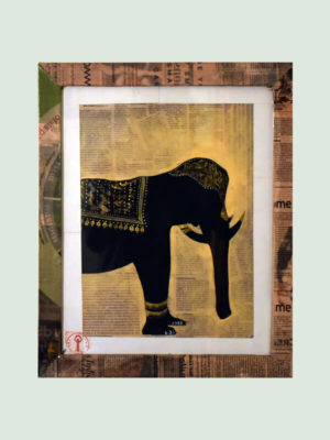 Decorated Elephant – Handmade wall Posters