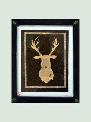 Deer in Mist- Handmade Painting