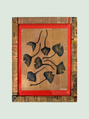 Free Floating Leafs – Handmade Wall Poster.