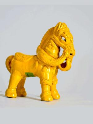 Yellow Mustang Art Piece