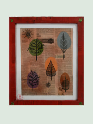 Colorful Leafs and Stems – Buy Modern Art