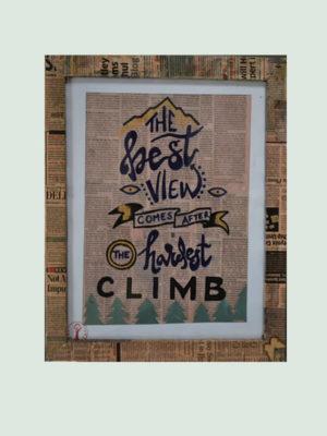 The best view – Handmade Motivational Poster