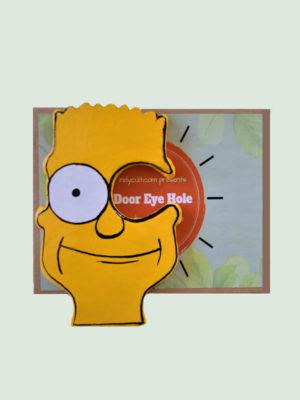 Simpsons- Paper Mache Door Eyepiece Art Piece