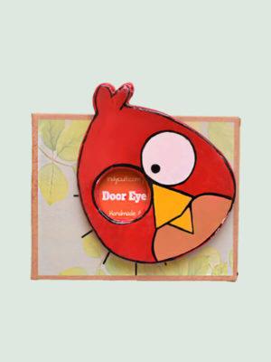 Angry Birds – Paper Mache Door Eyepiece Art piece