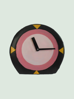 Round Shaped Paper Mache Table Clock