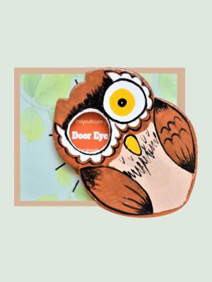 The Owl – Paper Mache Art piece for Door Eyepiece