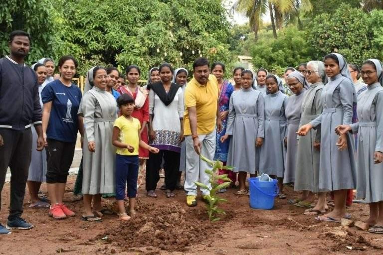 Mr. MLA is planting tree