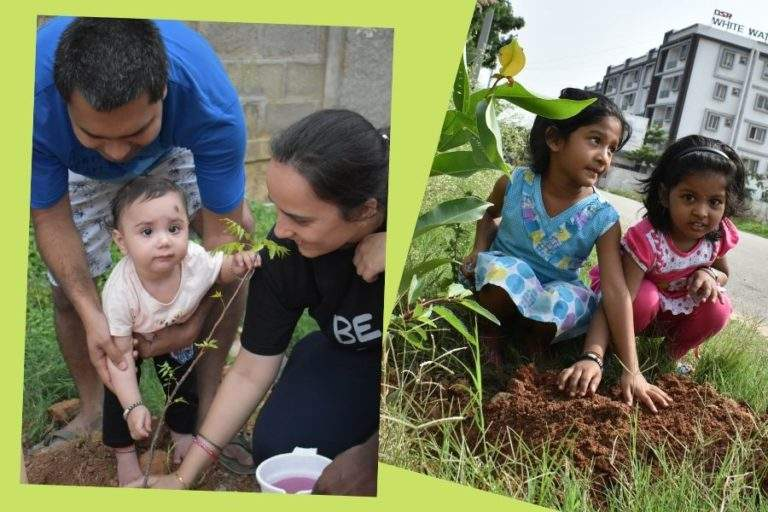 Kids are planting Trees