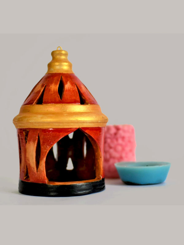 temple shaped candle lamp shade