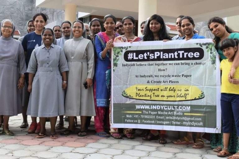 Sisters of carmelaram Planting trees